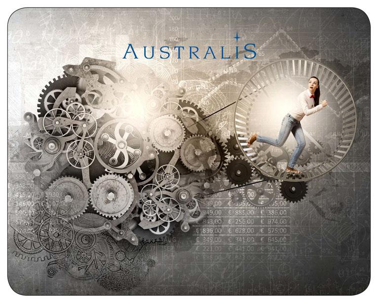 referenzen kundenbeispiele mousepads bedrucken lassen individuell zufriedene Kunden mit Logo australis
